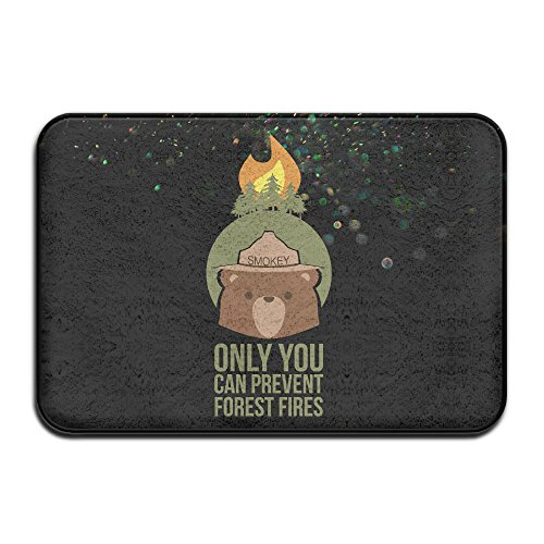[DIANA Coral Fleece Smokey Bear Forest Fire Rectangle Area Rugs Living Room Carpet Bedroom Rug Home Decorator Floor Rug And Carpets- 1624] (Captain Murphy Costume)