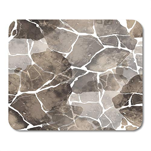 Boszina Mouse Pads Pile Abstract Imprints Stones Hand Digital Drawing and Watercolor and Design Nature Mixed Media Color Mouse Pad for notebooks,Desktop Computers mats 9.5