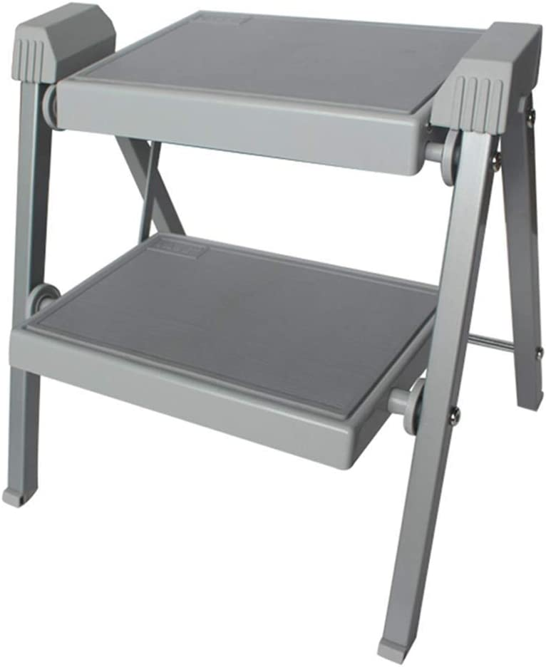 XHCfold Escalera de Tijera Plegable y compacta, Taburete de 2 peldaños de Acero para Trabajo Pesado con tapete Antideslizante, para caravanas, autocaravanas o autocaravanas (Tamaño : 41x37x40cm): Amazon.es: Bricolaje y herramientas