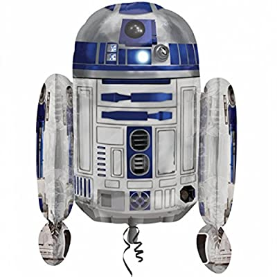 """26"""" Star Wars R2D2 Droid Character Children's Party Foil Supershape Balloon"""