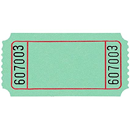 10,000 Ct. Party Favor Amscan Blue Blank Ticket Roll