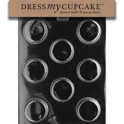 Dress My Cupcake DMCAO033 Chocolate Candy Mold, Large Peanut Butter Cup