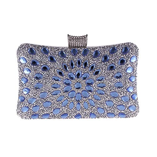 blu Evening Clutch Elegant Bag Party Women Cvbndfe colore Ladies Blu Cocktail Wedding IwvxUdX