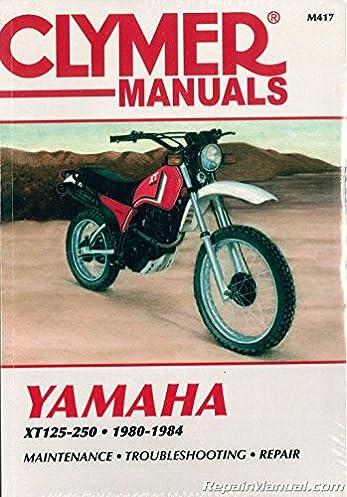m417 1980 1984 yamaha xt125 xt200 xt250 clymer motorcycle repair  yamaha xt200 wiring diagram #14