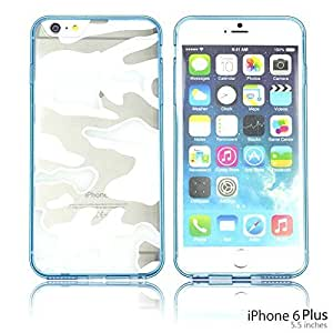 Ultra Thin Slim camouflage Transparent Crystal Clear (Hard Back Soft Bumper Edges) Case Cover For Ipod Touch 5 Smartphone Blue