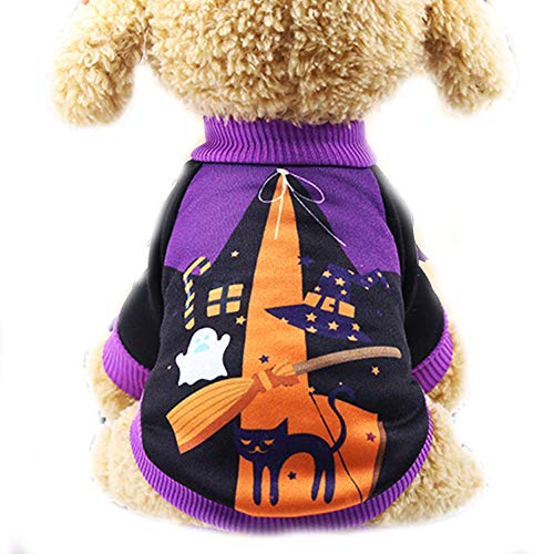 Dress Up 77 Net (Pet Clothes, Dog Cat Halloween Costume Party Dress Up Sweater Warm Cotton Hoodies Coat for Autumn to Winter)