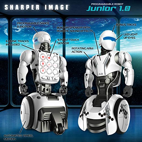 Sharper Image RC Humanoid OP One Robot, Cool Sci-Fi Android with Moving Arms and Gripping Hands, Dances, Plays, Performs, Spy Mode, Voice, Wireless Control, Full Directional Movement, Battery Power by Sharper Image (Image #3)