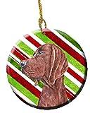 Redbone Coonhound Candy Cane Christmas Ceramic Ornament SC9803CO1
