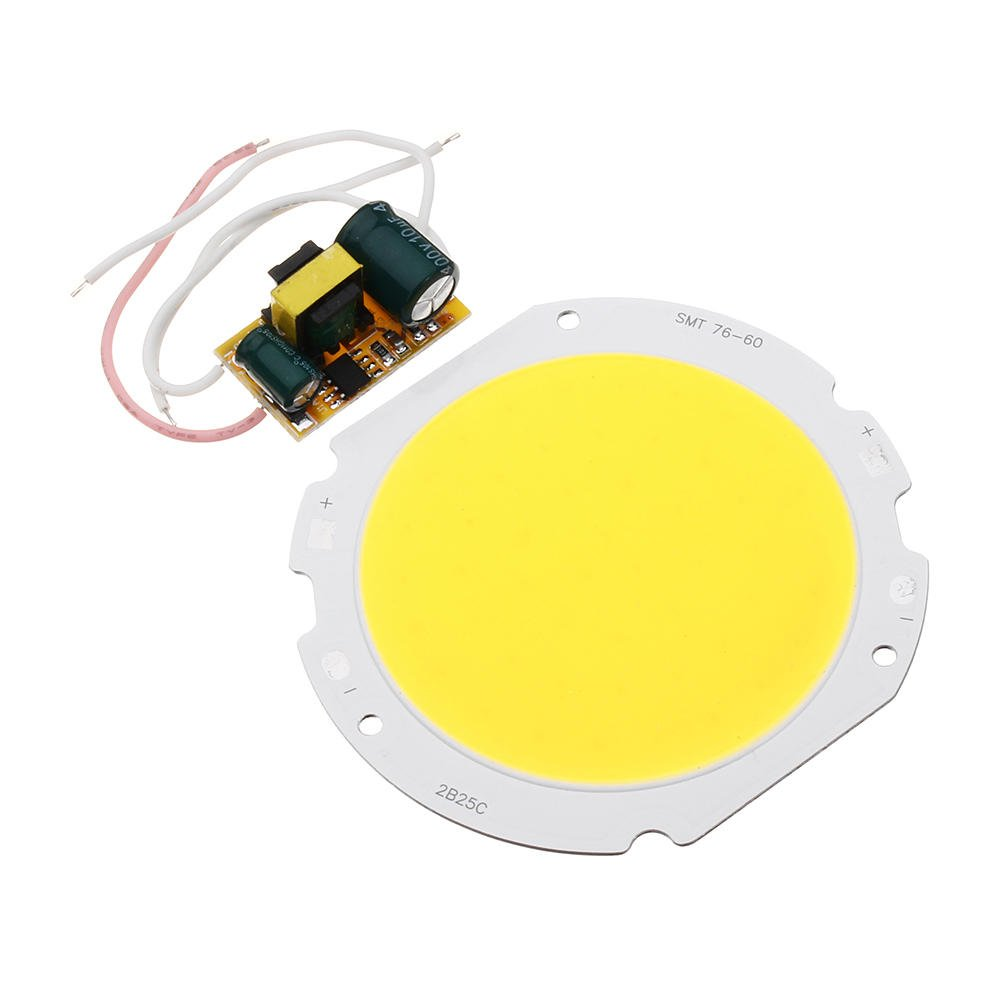 White SGerste AC90-240V 20W DIY LED Chip Round Board Panel Bead with LED Power Supply Driver Transformer