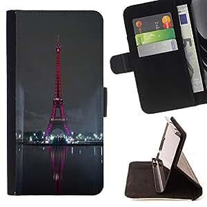 - Red Eiffel Tower Tour Paris/ Personalizada del estilo del dise???¡¯???¡Ào de la PU Caso de encargo del cuero del tir???¡¯????n del s - Cao - For HTC One