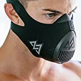 Training Mask 3.0 for Performance Fitness, Workout Mask, Running Mask, Breathing Mask, Cardio Mask, Official Training Mask Used by Pros (All Black, Small)