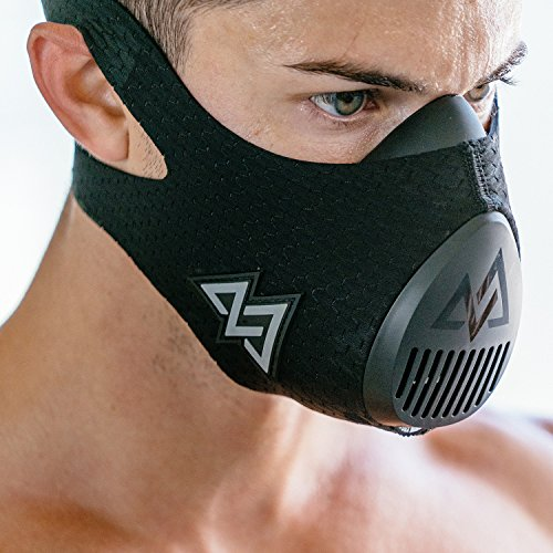 Training Mask 3.0 [All Black] for Performance Fitness, Workout Mask, Running Mask, Breathing Mask, Resistance Mask, Cardio Mask, The Official Training Mask Used by Pros