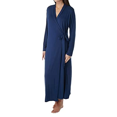 Shadowline Women's Plus-Size Before Bed Long Wrap Robe at Women's Clothing store