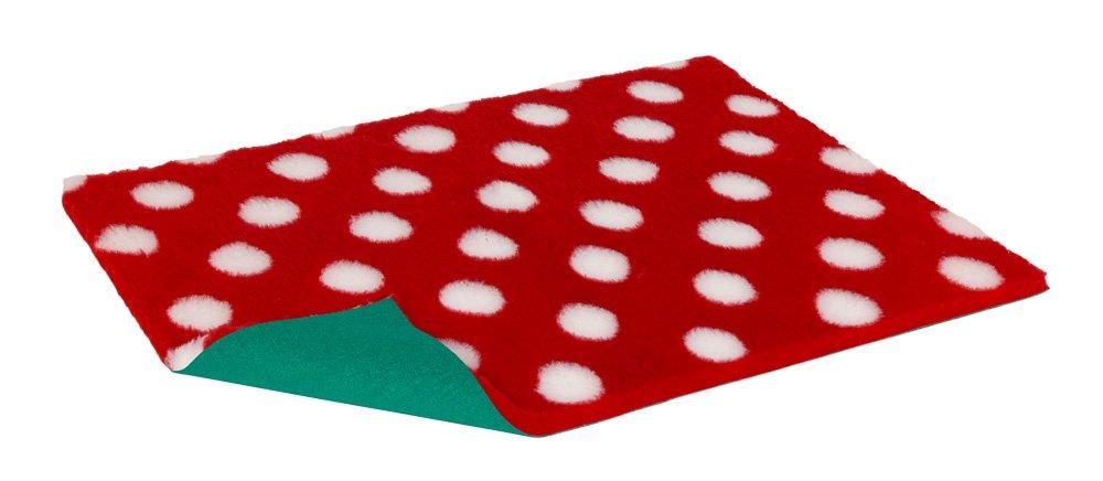 Non-slip Vetbed Half Roll Red With White Polka Dot 10m