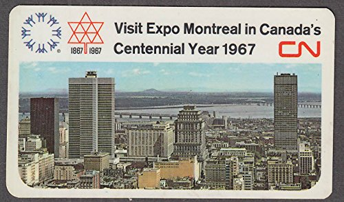 Canadian National Railways Expo '67 pocket calendar - Calendar 1967