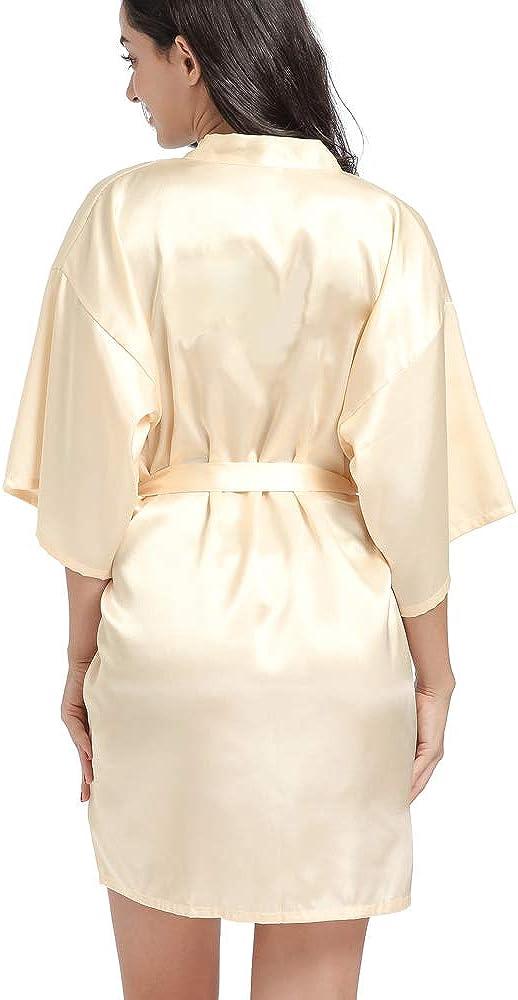 Reyokale Bride Bridesmaid Robes for Women Satin Kimono Robes for Wedding Party