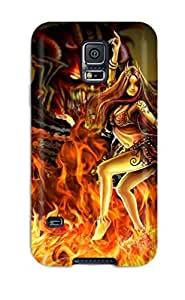 Awesome Demon Flip Case With Fashion Design For Galaxy S5 by lolosakes