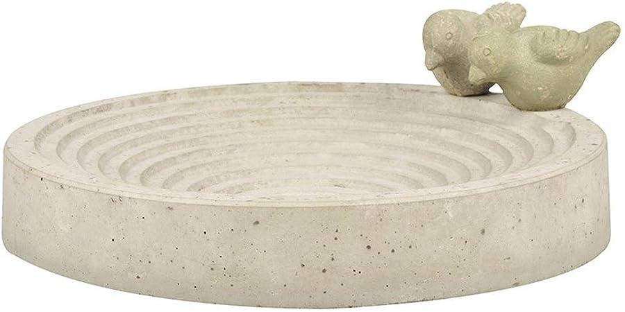 Matches21 Abreuvoir mains pour oiseaux en ciment et b/éton 22,5 x 21 cm