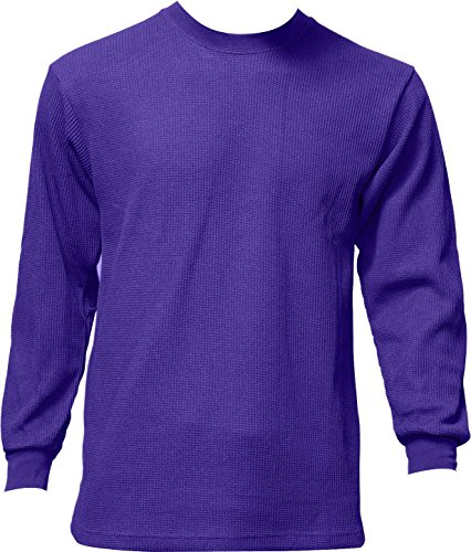 Purple Thermal - Men's Thermal Top Warm Winter 100% Cotton Many Colors, Purple, Medium