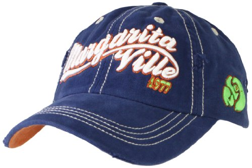 Margaritaville Men's 3D Embroidery Hat, Midnight Blue, One Size