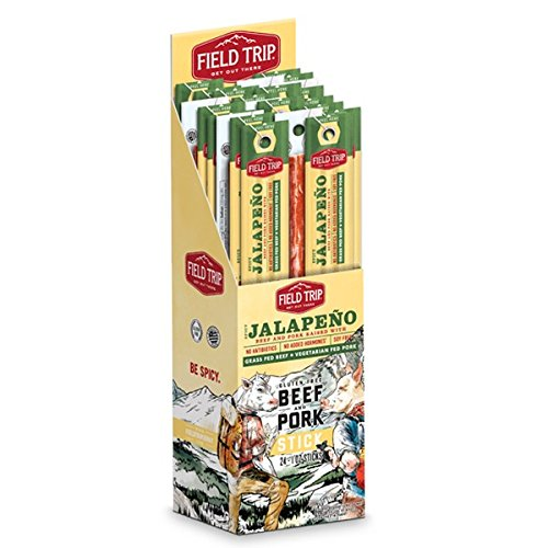 Field Trip Spicy Jalapeno Beef and Pork 1 Ounce Sticks - Pack of 24