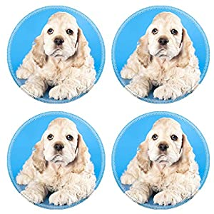 MSD Natural Round Drink Coaster set of 4 Image ID: 11452165 American Cocker Spaniel dog 5