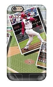 Fashion Tpu Case For Iphone 6- Cincinnati Reds Defender Case Cover