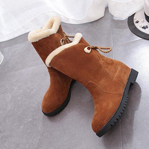 Colorful TM Fashion Women's Winter Warm Snow Boots Winter Ankle Boots Women Shoes Heels Winter Boots Yellow SI5Tp75KoH