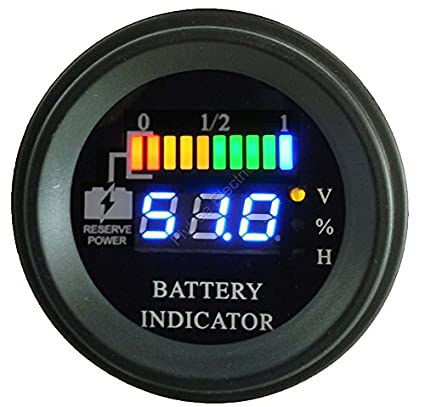 Amazon.com : 3G EZGO RXV Digital Charge Meter : Sports & Outdoors on club car precedent wiring-diagram, club car 36v wiring-diagram, club car 48v wiring-diagram, club car ds wiring-diagram,