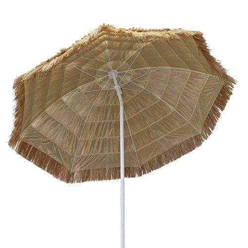 Big Lighting Deals 6.5′ Thatched Patio Tiki Umbrella Hawaiian Umbrella Hula Beach Straw Umbrella Raffia Umbrella 8 Ribs