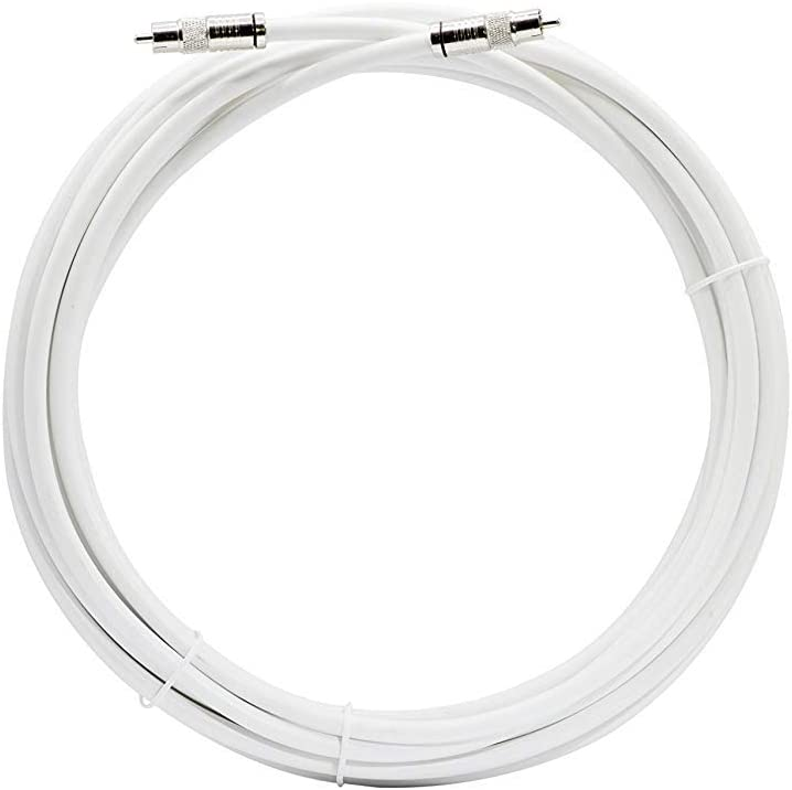 : Subwoofer Cable - Digital Coaxial Cable with RCA Connections THE CIMPLE CO 15 Feet Made in The USA S//PDIF Digital Audio Cable 75 Ohm Coax White RCA Cable