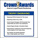 Crown Awards Gold Cup Trophies with Custom