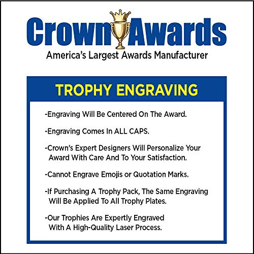 Crown Awards Basketball Goodie Bags, Basketball Favors for Basketball Themed Party Supplies Comes with Personalized Boys Basketball Trophy, Squishball and Basketball Drawstring 50 Pack by Crown Awards (Image #3)