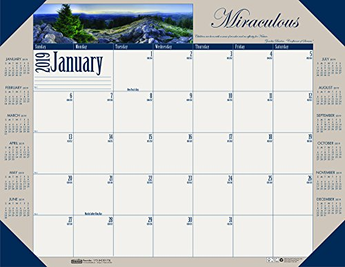 House of Doolittle 2019 Monthly Desk Pad Calendar, Motivational, 22 x 17 Inches, January - December ()