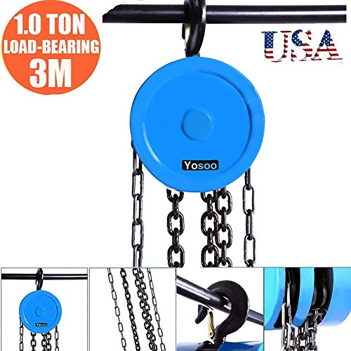 """Chain Puller-1 Ton 97"""" Inch Chain Puller Hoist Block Lift Pulley Tool Hoist Hand Tools Chain with Hook"""