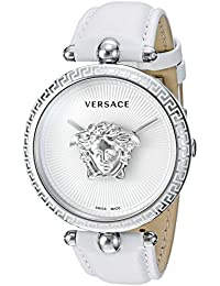 Women's 'Palazzo Empire' Swiss Quartz Stainless Steel and Leather Casual Watch, Color:White (Model: VCO010017)