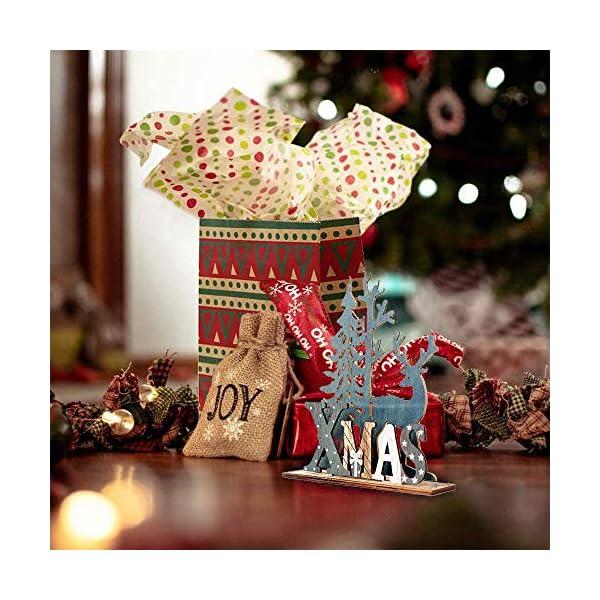 Anyingkai 2pcs Ornamenti Natalizi alci,Decorazioni da Tavolo in Legno di Alce,Legno di Alce Fai da Te Regali,Legno di Alce Ornamenti,Decorazione in Legno Renna Decorazione (Alce) 5 spesavip