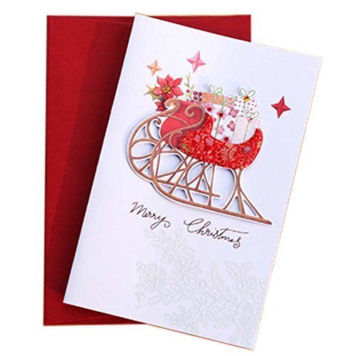 5 Pcs Christmas Card Holiday Greetings Cards Blessing Festival Card, A (Xmas Ecards Charity)