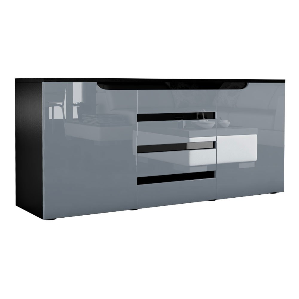 sideboard schwarz matt. Black Bedroom Furniture Sets. Home Design Ideas