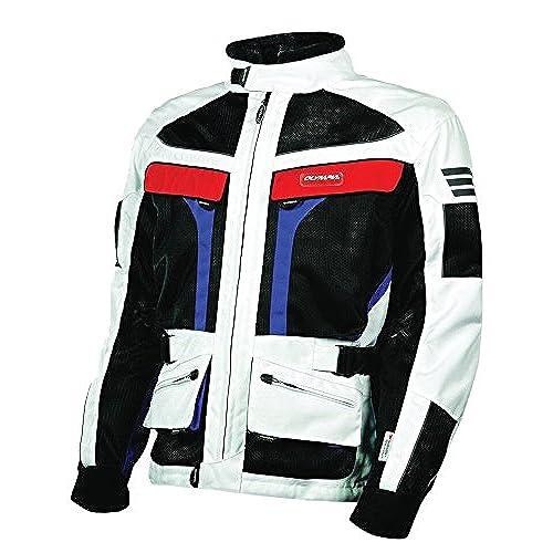 Olympia Moto Sports MJ222 Mens Dakar Dual Sport Mesh Tech Jacket (Patriot, 4X-Large)
