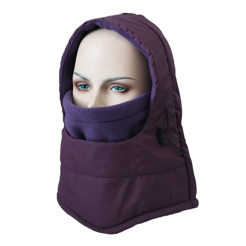 Hmlai Multi-Function Mask Balaclava Windproof Ski Mask Cold Weather Face Cover (Style 2-Purple)