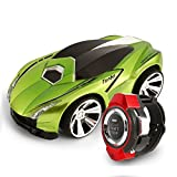 Voice Command RC Car, OWIKAR Rechargable Smart Watch Voice-activated Remote Control Toy Vehicles Creative Voice Command RC Vehicles Toy for Child Christmas Boxing Day Gift (Green)