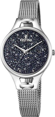 Women's Watch Festina - F20331/3 - Crystals from Swarovski - Milanese Band