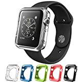 Silicone Alley, Apple Watch [38mm] Bumper Case [Series 2] / Perfect Match & Fit for Bands [Set of 5]