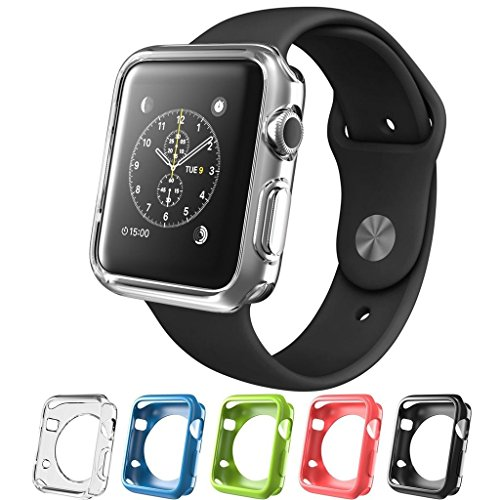 SILICONE ALLEY, Apple Watch [38mm] Bumper Case [Series 1] / Perfect Match & Fit for Bands [Set of 5] (Band Not - Liner Series One