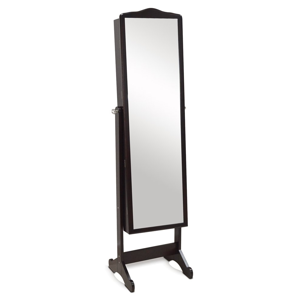 Organizedlife Brown Jewelry Cabinet Full Length Mirror Armoire Free Stand Large Cosmetic Organizer by Organizedlife (Image #3)