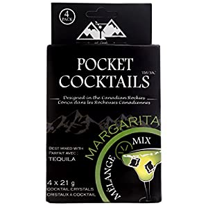 BarCountry Pocket Cocktails - Drink mix for Outdoor Adventures - Low Calories, Low in Sugar, Gluten Free and Made with All-Natural Ingredients (Coconut-Lime Margarita, 4 Packets)