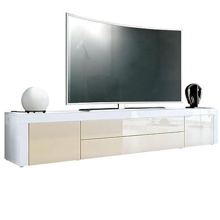 Vladon Tv Board Lowboard La Paz Korpus In Weiß Hochglanzfront In
