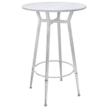Strange Amazon Com Diamond Sofa Round Motif Metal Bar Height Table Ocoug Best Dining Table And Chair Ideas Images Ocougorg