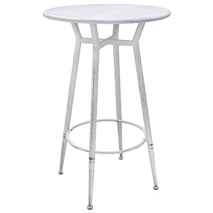Tremendous Amazon Com Diamond Sofa Round Motif Metal Bar Height Table Machost Co Dining Chair Design Ideas Machostcouk